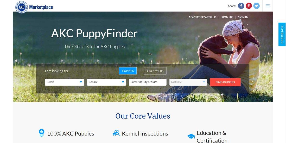 akc puppyfinder website
