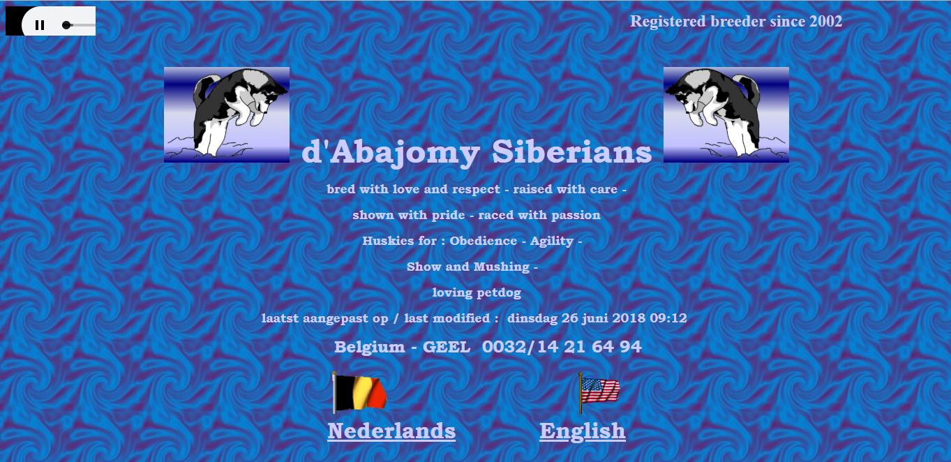 d'Abajomy Kennel - Siberian Husky - Belgium
